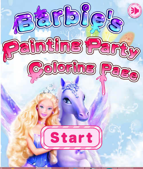 Barbie Painting Party