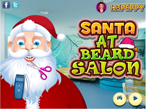 Santa at Beard Salon